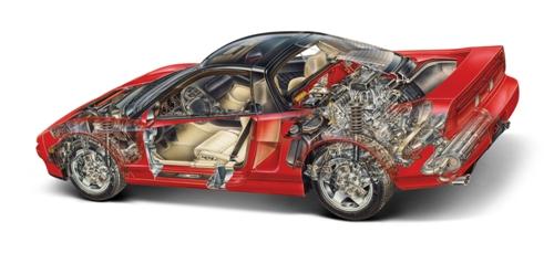 Acura NSX Cutaway